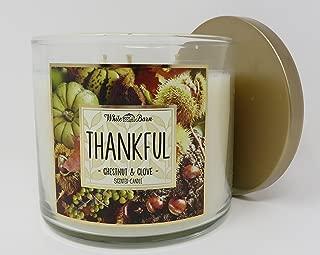Bath & Body Works Candle 3 Wick 14.5 Oz Thankful Chestnut & Clove 2015 Edition