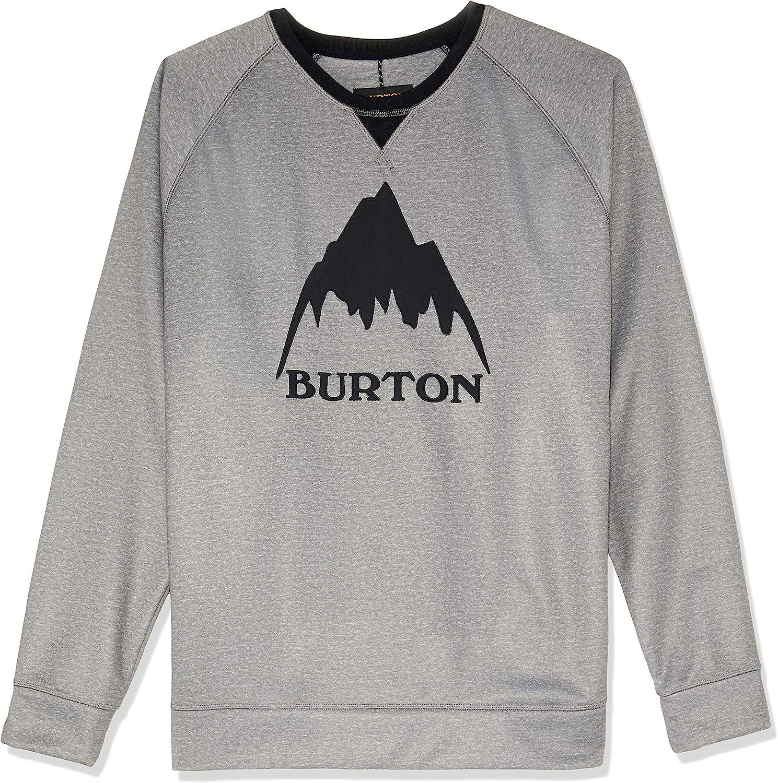 Burton Mail order cheap Men's Crown Bonded Crew Sweatshirt Large discharge sale Fleece