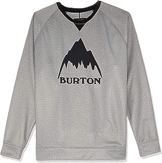 Burton Snowboards Men's Crown Bonded Crew Shirt, Monument Heather, Xx-Large