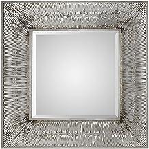 Uttermost Jacenia Square Wall Mirror, Rectangular Shape - Grey