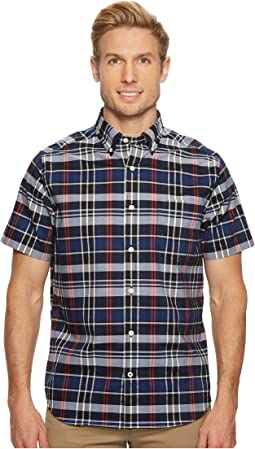 Nautica - Wear to Work Short Sleeve Plaid Shirt