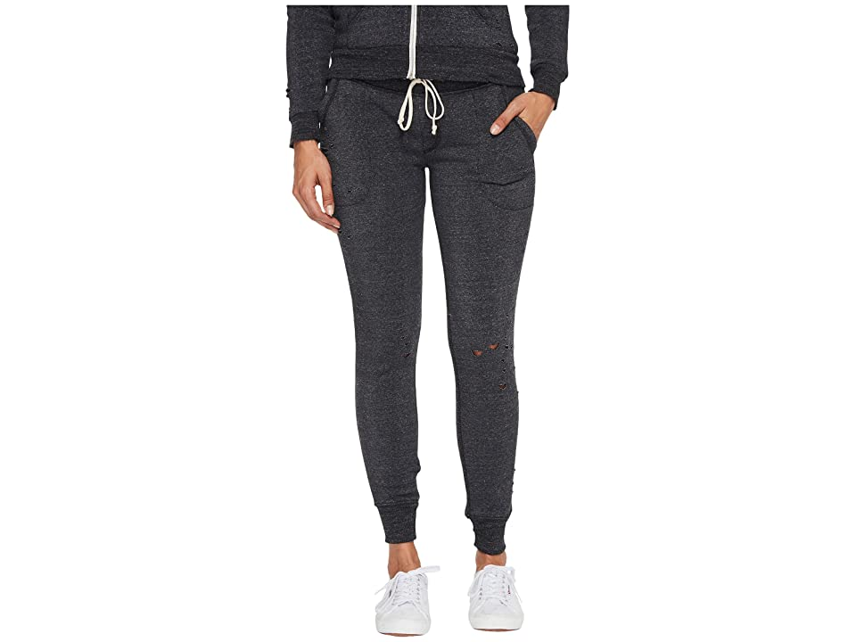 Alternative Super Distressed Eco-Fleece Jogger Pants (Eco Black) Women