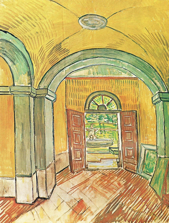 Black Creations The vesttibule of st Paul's Hospital 1889 Van Gogh Poster Canvas Picture Art Print Premium Quality A0 A1 A2 A3 A4 (A0 Canvas (30 40))