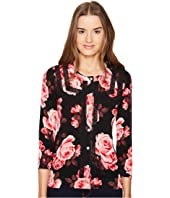 Kate Spade New York - Rambling Roses Rosa Lace Trim Cardigan
