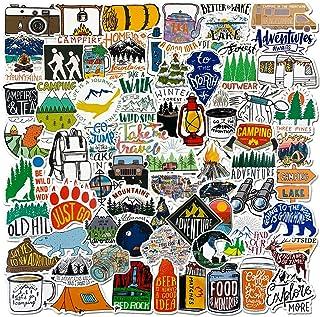 100 Pcs Outdoor Adventure Stickers Wilderness Nature VSCO Waterproof Stickers Decals Hiking Camping Travel Vinyl Water Bot...