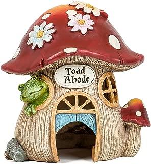 Joseph Studio 65905 Tall Decorative Mushroom Toad Abode Statue, 8-Inch