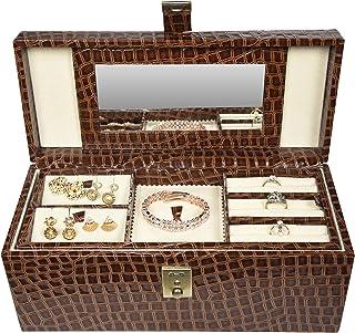 Stones Bridge Exclusive Croco PU Leather Locker Jewellery Storage Box/Vanity Box/for Women (Brown)
