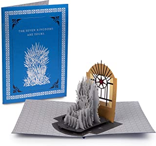 Game of Thrones Iron Throne Pop-Up Card - Deluxe Handcrafted Pop Up Card - All Occasions, Blank Inside - 5 x 7