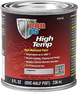 POR-15 44316 Temp Aluminum High Temperature Paint, 8. Fluid_Ounces