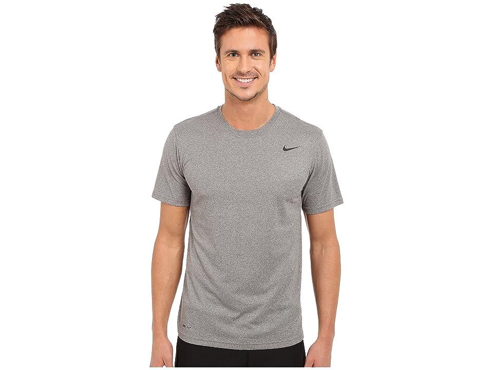 Nike Legend 2.0 Short Sleeve Tee (Carbon Heather/Black/Black) Men