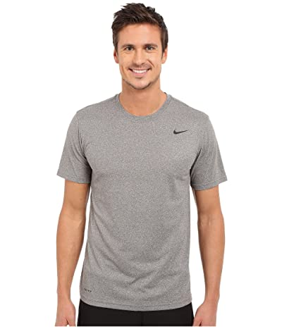 Nike Legend 2.0 Short Sleeve Tee (Carbon Heather/Black/Black) Men