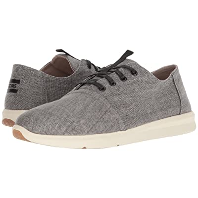 TOMS Del Rey (Black Coated Linen) Men