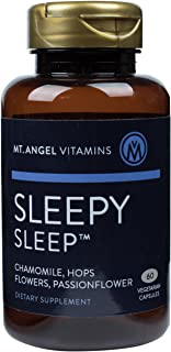 Mt. Angel Vitamins - Sleepy Sleep, Herbal Sleep Cycle Support, 60 Vegetarian Capsules with Chamomile, Lemon Balm, Hops, Ma...