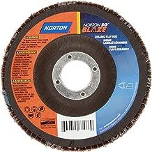 Norton Blaze R980P Abrasive Flap Disc, Type 29, Threaded Hole, Fiberglass Backing, Ceramic Aluminum Oxide, 4-1/2