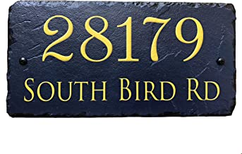 Sassy Squirrel Beautifully Handcrafted and Customizable Slate Home Address Plaque (12