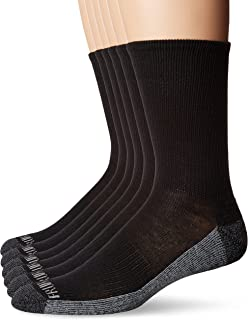 Men's Essential 6 Pack Casual Crew Socks | Arch Support |...