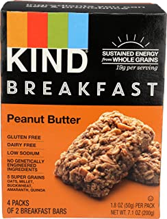 KIND Breakfast Bar, Peanut Butter, 1.8oz 4 Count, 7.1oz