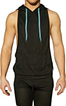 NEON NATION Muscle Cut Athletic Bodybuilder Stringer Tank Top Hoodie