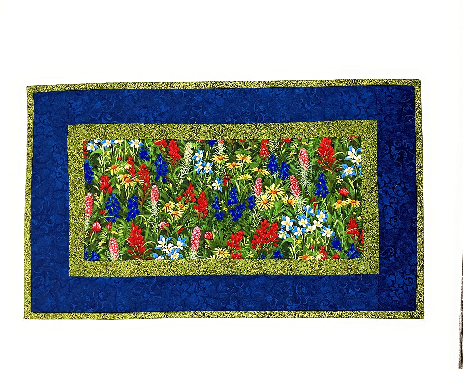 Summer Quilted Wildflower Red sale Ranking TOP4 Blue 25 Runner Table Yellow Topper
