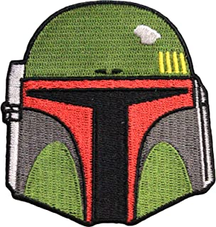 Star Wars Official Boba Fett Helmet Dark Side Force Lucasfilm Iron On Patch