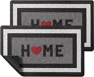 """HappyTrends 2 Pack Door Mat Outdoor Indoor Floor mat,30""""x17"""",Non Slip Absorbent Doormats Front Back Entryway Welcome Mat R..."""
