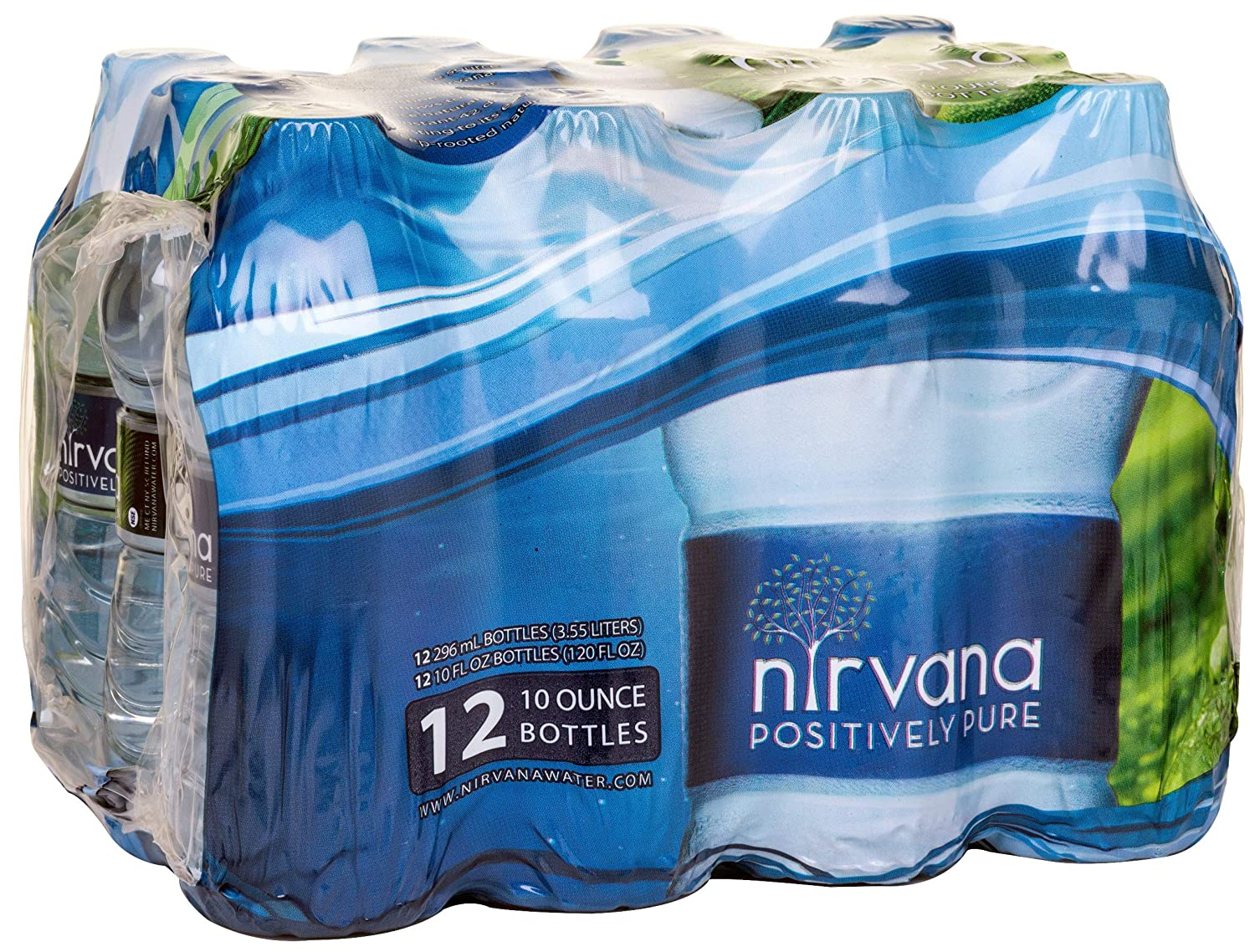 Nirvana Natural Spring Water 12-Pack of 10 oz. Direct store Bottles Be super welcome