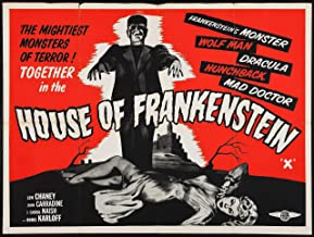 DROB Collectibles House of Frankenstein Movie Vintage Poster Art Reprint 17 x 23 Archival Ink in Glossy Paper VMP06