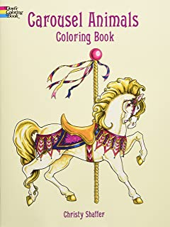 Carousel Animals Coloring Book (Dover Coloring Books)