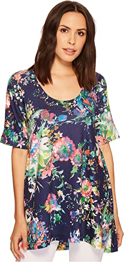 Nally & Millie - Blue Floral Tunic