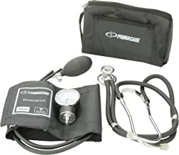 Primacare DS-9181-BK Professional Blood Pressure Kit, Includes Aneroid Sphygmomanometer and Sprague Rappaport Stethoscope, Black