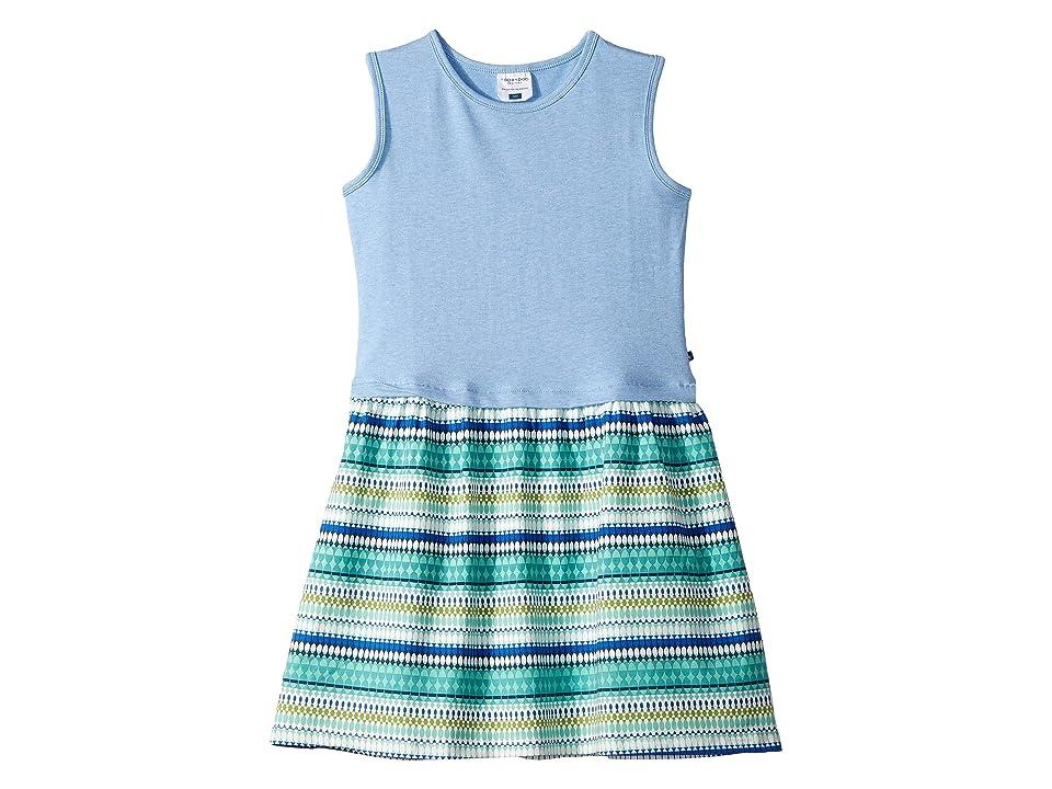 Toobydoo Tank Dress (Toddler/Little Kids/Big Kids) (Blue Geometric Print) Girl