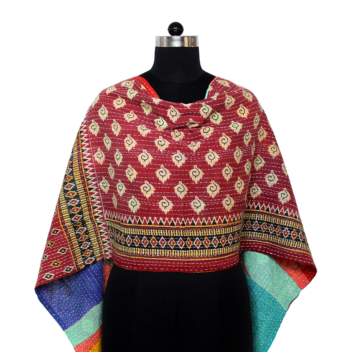 Cotton New Shipping Free Shipping Kantha overseas Scarf Neck Wrap Stole Hand S Women Dupatta Quilted