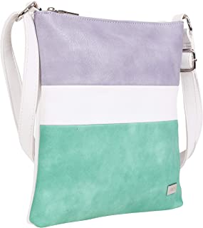 BERNARDO BOSSI Damen Clutch Abendtasche Tasche Handtasche Schultertasche Frauen Umhängetasche (M2 Lila/Grün)