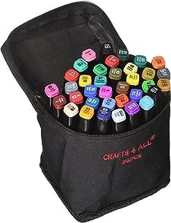 Bambino Safe /& non Tossico Marcatori di Tessuto 12 Doppio Tip Confezione Minimal Vivo Rich Pigmento Belle Permanenti Graffiti Colorare Tessuto Penne di Crafts 4 All