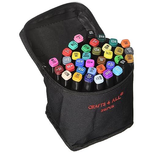 Sustancia marcadores 36 Pack Dual Tipp mínimamente BLEED rico pigmento sustancia finamente permanentemente Graffiti Farbung puntas