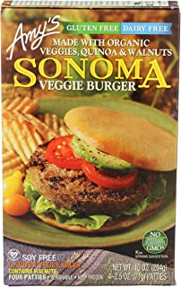 AMYS Sonoma Veggie Burger, 2.5 Ounce (Pack of 4)