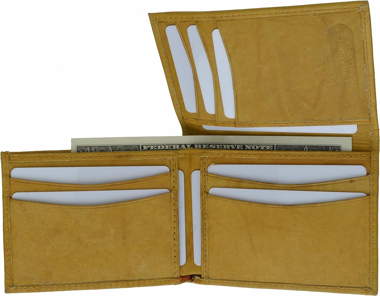 New Unique Flip-Up Mens Wallet & Card Colder Tan #139