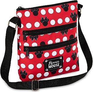 Disney Umhängetasche Damen und Teenager, Mickey Mouse und Minnie Mouse Tasche Damen, Kleine Umhängetasche Damen
