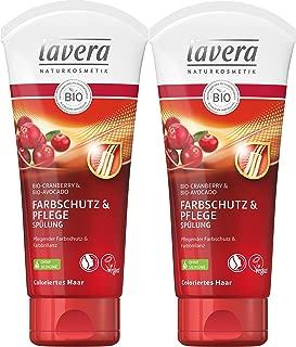 lavera Haar Spülung Farbschutz & Pflege  Cranberry & Avocado  Colorierte Haare  vegan  Bio Haarspülung  Natural & innovative Hair Care  Naturkosmetik  Haarpflege 2er Pack 2 x 200 ml