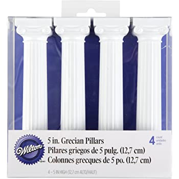 Rurah 4Pcs Set Roman Pillars for Cakes Cake Wedding Birthday Party Decoration,7.5cm