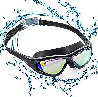ZetHot Gafas De Natación De Marco Amplio, Gafas para Nadar Gafas De Natación Antigoteo, Antiniebla Y Protección UV para Hombres, Mujeres, Adultos, Jóvenes Y Niños.