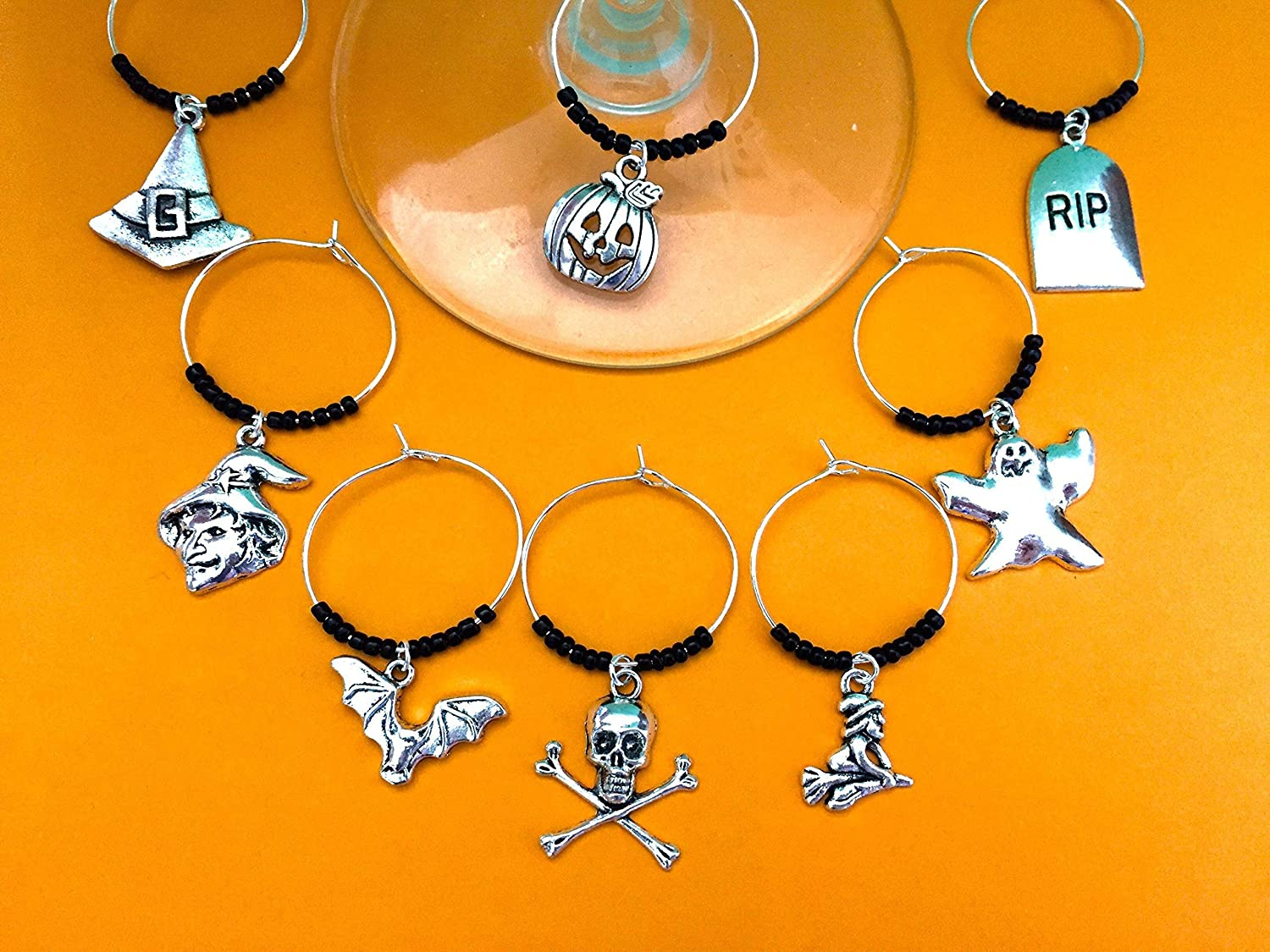 Halloween Theme Ranking TOP13 Wine Charms Witch Classic Gift. Jack-o-lante