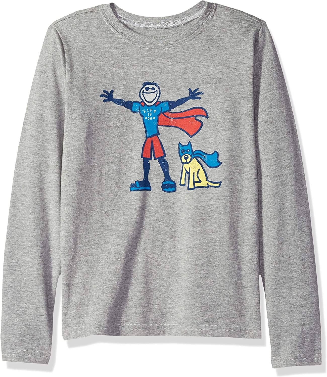 Life is Good Boys Crusher Longsleeve Tee Superhero Jake & Rocket