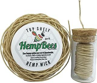 HempBees Organic Hemp Wick DISPENSER + 50 FT by