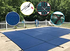 WaterWarden Inground Pool Safety Cover, Fits 18' x 36', Blue Mesh, Right Step – Easy Installation, Triple Stitched for Max...