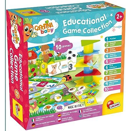 Lisciani - Carotina Baby - Collection des 10 Jeux éducatifs pour enfants à partir de 2 ans - 80243