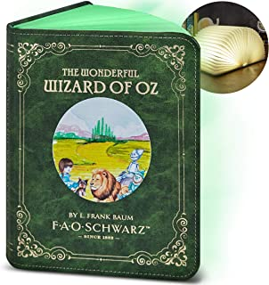 FAO Schwarz Light Up Book 8.5inch FAO SCHWARZ Color Changing Light Up Book Table LED Lamp with Rechargeable Battery and USB Cable, Ideal for Nightlights, Library and Study Rooms, Magic, Halloween