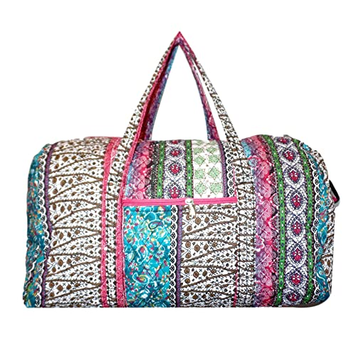 0e50b3f73d250f Bohemian and Traditional Prints - Quilted Large 22 inch Duffle Bag