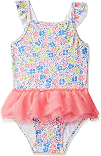 eKooBee Infant Baby Girls One Piece Swimwear Rose Solid Color Swimsuits