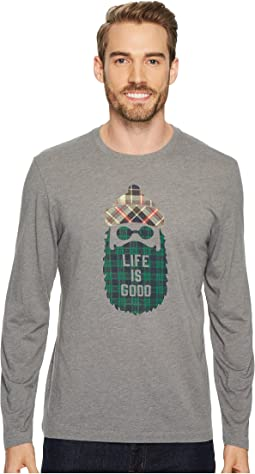 Pattern Beard Life Is Good® Long Sleeve Cool Tee